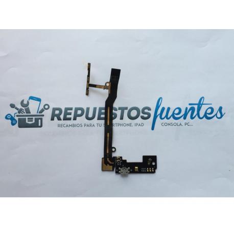 Flex de Encendido, Volumen, Microfono y Conector de Carga Micro USB para BQ Aquaris E5 4G , E5s - Remanufacturado