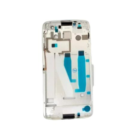CARCASA CENTRAL O MARCO PARA ALCATEL IDOL 4S 6070 - BLANCO