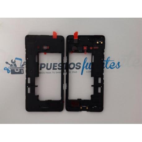 Carcasa Intermedia con Lente de Camara Nokia Lumia 640 , 640 DS Negra
