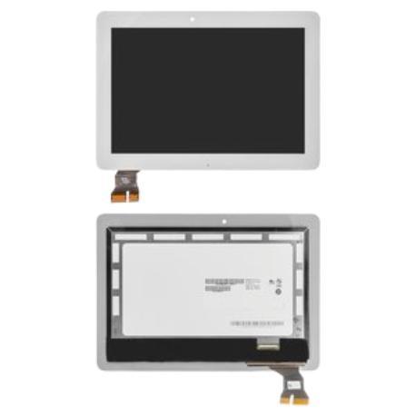 PANTALLA LCD DISPLAY + TACTIL CON MARCO PLATA PARA ASUS MEMO PAD TF103 K010 - BLANCA