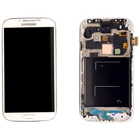 PANTALLA LCD + TÁCTIL CON MARCO ORIGINAL PARA SAMSUNG GALAXY S4 I9505 BLANCA