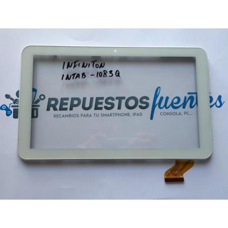 Repuesto Pantalla Tactil Infiniton Intab 10.1 Pulgadas 1083Q Recuperada - Blanca