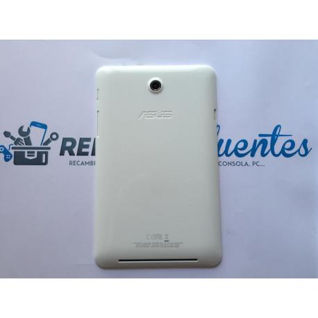 Carcasa Tapa Trasera para Asus MemoPad HD 7 K00B ME173X (Recuperada) - Blanca (Incluye Botones Laterales)