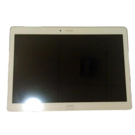 PANTALLA LCD Y TACTIL CON MARCO PLATA PARA HUAWEI MEDIAPAD M2 10.1 - BLANCA