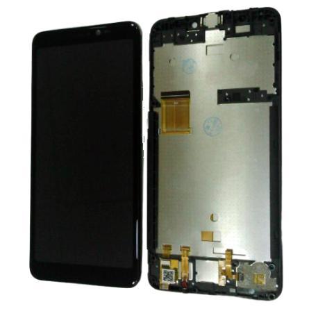 PANTALLA LCD DISPLAY + TACTIL CON MARCO PARA WIKO Y60 - NEGRA