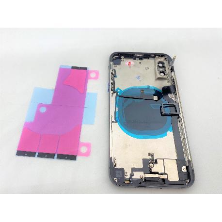 Tapa Trasera con Marco Para iPhone X - Negra - Con Componentes