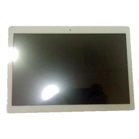 PANTALLA LCD Y TACTIL CON MARCO PLATA PARA LENOVO TAB M10 TB-X505F - BLANCA