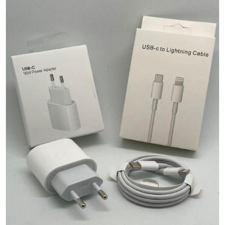 CABLE USB-C A LIGHTNING Y CARGADOR DE TIPO USB-C - IPHONE, IPAD - BLISTER