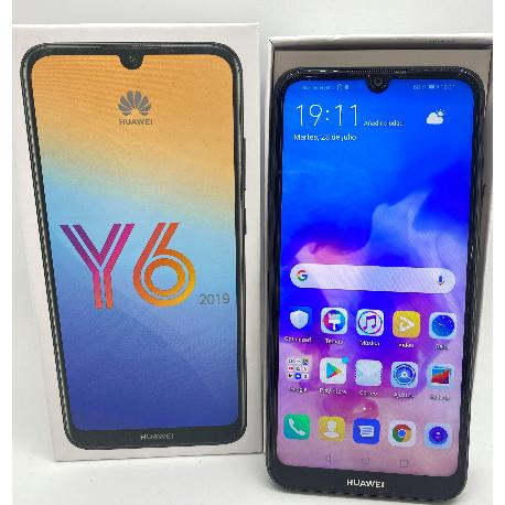 HUAWEI Y6 (2019) DUAL SIM EN NEGRO DE 32GB Y 2GB RAM NEGRO - MUY BUEN ESTADO