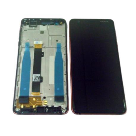 PANTALLA LCD + TACTIL CON MARCO AZUL PARA NOKIA 3.1