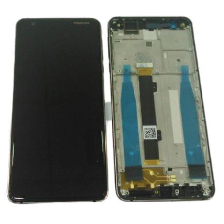 PANTALLA LCD + TACTIL CON MARCO NEGRO PARA NOKIA 3.1