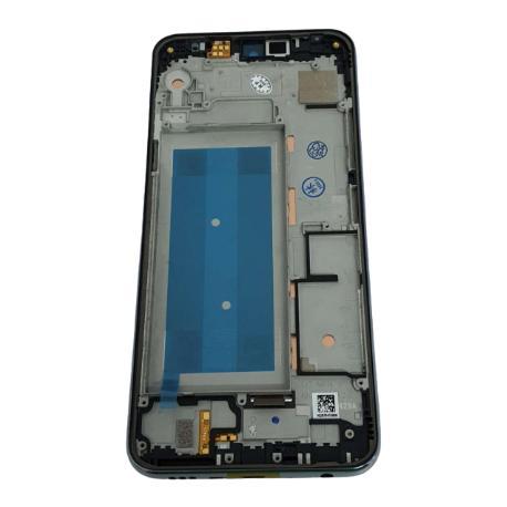 LCD + TACTIL CON MARCO PLATA PARA LG K50 / Q60 / K12 MAX