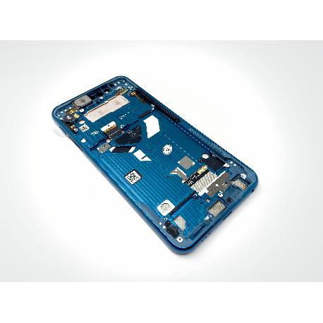 PANTALLA LCD DISPLAY + TACTIL CON MARCO PURPURA PARA MOTOROLA MOTO G8S THINQ - AZUL