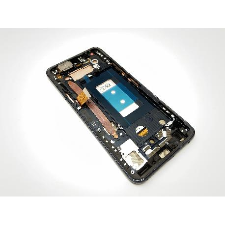 PANTALLA LCD DISPLAY + TACTIL CON MARCO PARA LG G8X THINQ - NEGRA