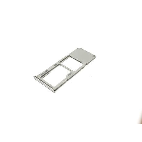 BANDEJA SINGLE SIM Y SD PARA SAMSUNG SM-A715 GALAXY A71 - PLATA