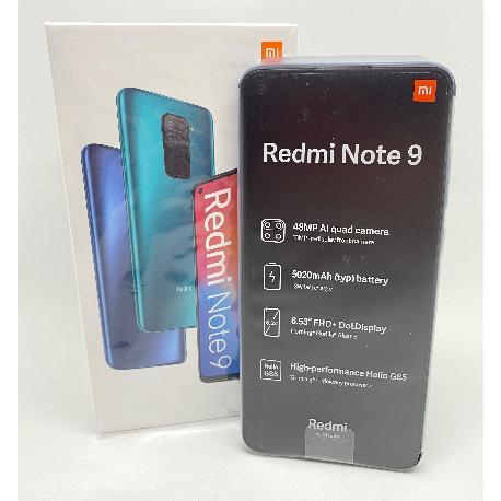 XIAOMI REDMI NOTE 9 128GB 4GB MIDNIGHT GREY - NUEVO  ESTRENAR