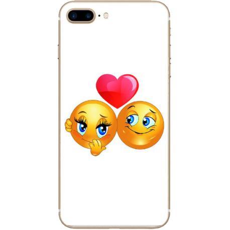FUNDA TRANSPARENTE TPU PARA IPHONE 7 PLUS, 8 PLUS - EMOJI LOVE
