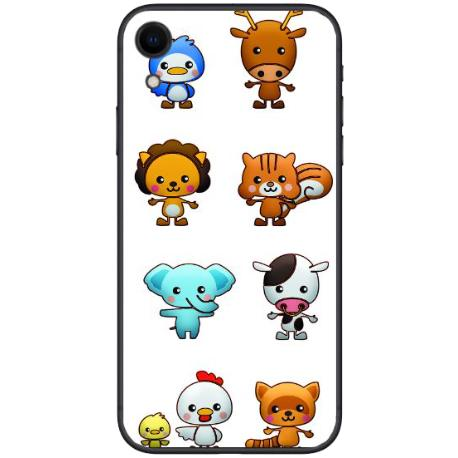 FUNDA TRANSPARENTE TPU PARA IPHONE XR - ANIMALES ANIMADOS