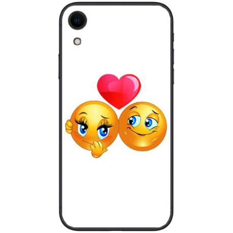 FUNDA TRANSPARENTE TPU PARA IPHONE XR - EMOJI LOVE