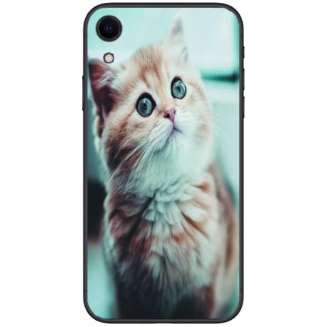 FUNDA TRANSPARENTE TPU PARA IPHONE XR - GATO