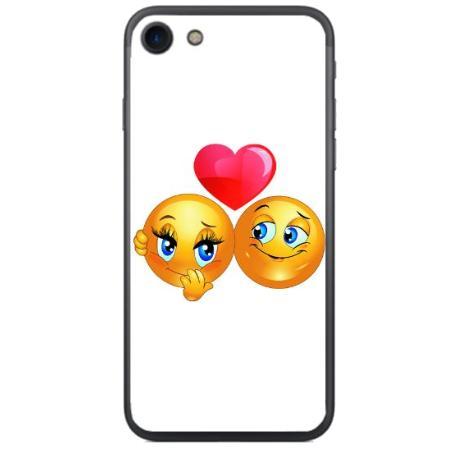 FUNDA TRANSPARENTE TPU PARA IPHONE 7, 8 - EMOJI LOVE