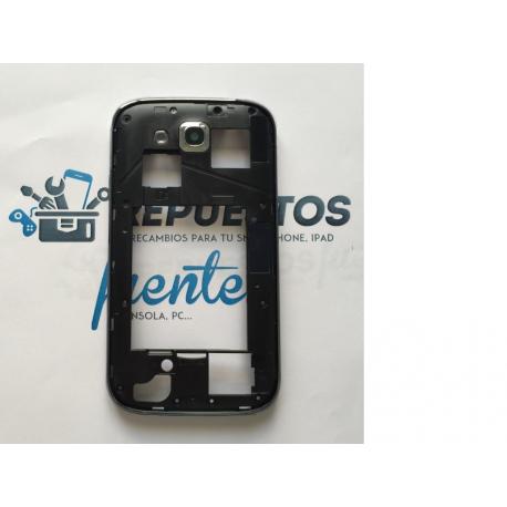 Carcasa Trasera Intermedia con Lente de Camara Samsung Galaxy Grand Duos I9082 - Azul