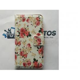Funda de Libro con Flores para Samsung Grand 2 G7102 G7105 G7106