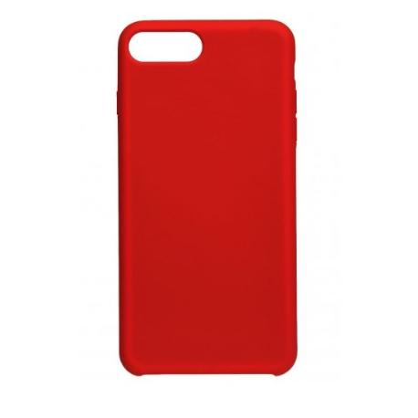 FUNDA DE SILICONA PARA IPHONE 7 PLUS, 8 PLUS - ROJA