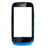 pantalla tactil con cristal digitalizador + marco para nokia lumia 610 azul