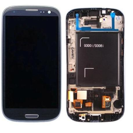 PANTALLA LCD + TACTIL CON MARCO GALAXY S3 NEO I9300I I9301 9308I 9300I I9301I AZUL
