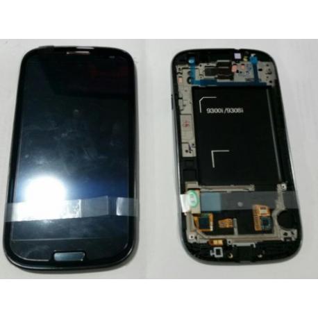 PANTALLA LCD + TACTIL CON MARCO GALAXY S3 NEO I9300I I9301 9308I 9300I I9301I NEGRA - SERVICE PACK