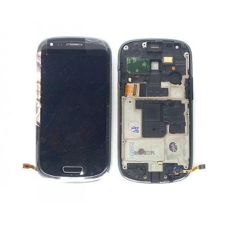 PANTALLA LCD + TACTIL CON MARCO COMPATIBLEGALAXY S3 MINI I8190 GRIS