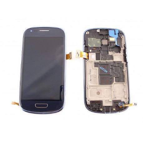 PANTALLA LCD + TACTIL CON MARCO GALAXY S3 MINI I8190 AZUL - SERVICE PACK