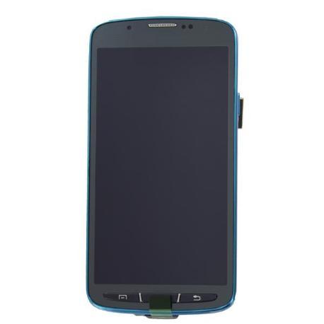 PANTALLA LCD + TACTIL CON MARCO AZUL GALAXY S4 ACTIVE I9295 - RECUPERADA - SERVICE PACK