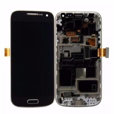 PANTALLA LCD + TACTIL CON MARCO S4 MINI PLUS 4G GT-I9195I LTE - NEGRA - SERVICE PACK