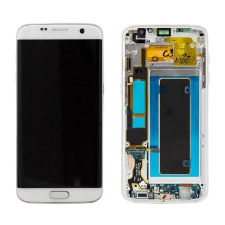 PANTALLA LCD DISPLAY + TACTIL CON MARCOPARAGALAXY S7 EDGE SM-G935F - BLANCA