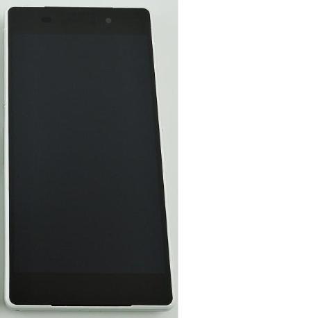 REPUESTO PANTALLA LCD + TACTIL CON MARCO XPERIA Z2 D6502 D6503 L50W - BLANCA
