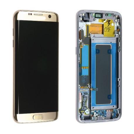 PANTALLA LCD DISPLAY + TACTIL CON MARCOPARAGALAXY S7 EDGE SM-G935F - ORO