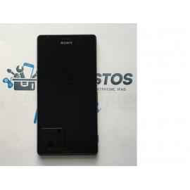 Repuesto Pantalla LCD + Tactil con Marco Sony Xperia M4 Aqua E2303 - Negro / Desmontaje