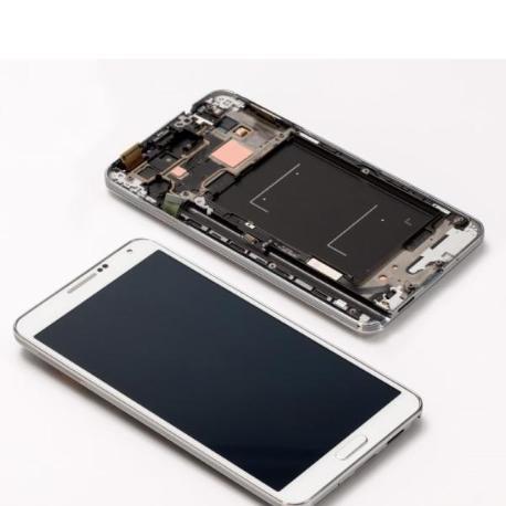 PANTALLA LCD DISPLAY + TACTIL CON MARCO PARANOTE 3 N9005 - BLANCO