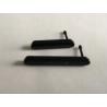 Juego de Tapas Micro SD y Micro USB para Sony Xperia M4 Aqua E2303 - Negro / Recuperadas