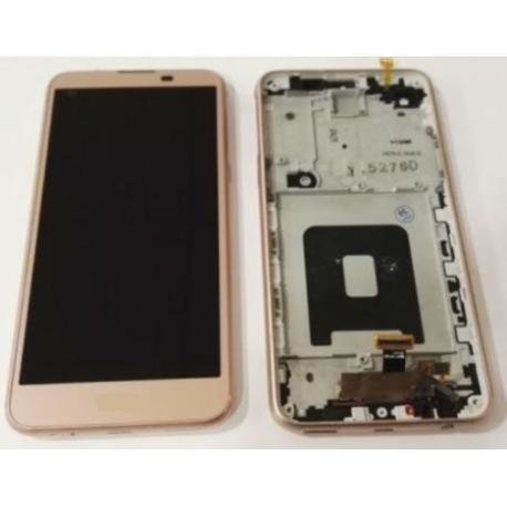 PANTALLA LCD DISPLAY + TACTIL CON MARCO PARA  K500N X SCREEN,K500, X SCREEN - ROSA