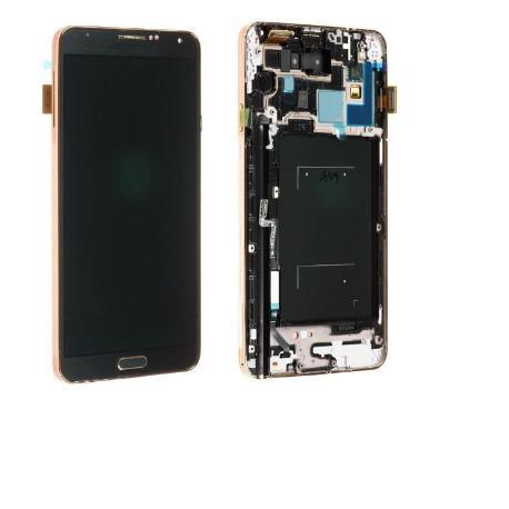 PANTALLA LCD DISPLAY + TACTIL CON MARCO PARANOTE 3 N9005 - NEGRA