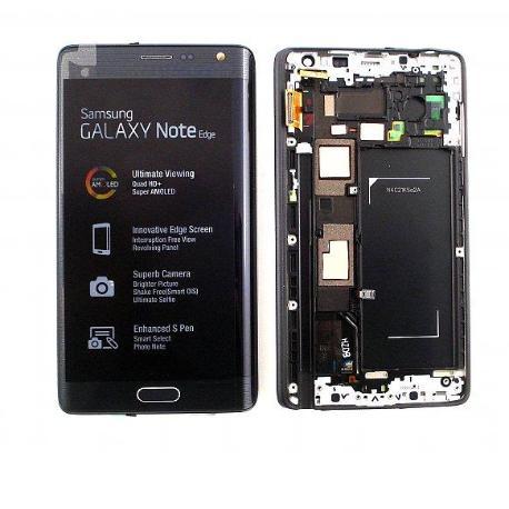 PANTALLA LCD DISPLAY + TACTIL CON MARCO GALAXY NOTE EDGE SM-N915FY , SM-N915G - NEGRA