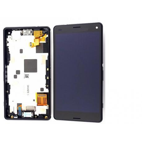 PANTALLA LCD DISPLAY + TACTIL CON MARCO XPERIA Z3 COMPACT MINI D5803, D5833 - NEGRA