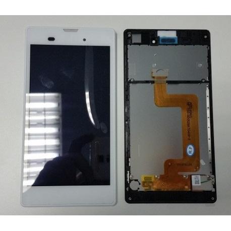 PANTALLA LCD + TACTIL CON MARCO XPERIA T3 D5102 D5103 D5106 M50W BLANCO