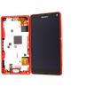 Pantalla LCD Display + Tactil con Marco Original Sony Xperia Z3 Compact Mini D5803, D5833 - Roja
