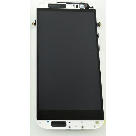 PANTALLA LCD DISPLAY + TACTIL CON MARCO PARAONE M8 - BLANCO