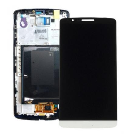 PANTALLA TACTIL + LCD DISPLAY CON MARCOPARA  OPTIMUS G3 - BLANCA