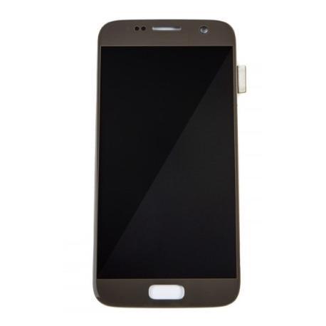 PANTALLA LCD Y TACTIL PARA S7, SM-G930 - ORO - CALIDAD OLED